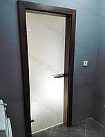 Межкомнатные стеклянные двери в МДФ коробке