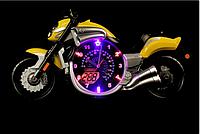 Часы настенные БРА В ДЕТСКУЮ BYC-VM 1700K (YL) (синий,красный,желтый)
