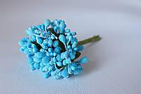 Декоративные веточки облепихи 10-12 шт/уп. ярко-голубого   цвета, фото 1