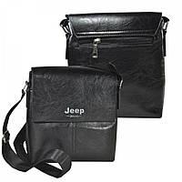 Мужская сумка-планшет на длинной ручке, черный цвет