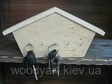 "Ключница деревянная ""домик"""