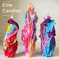 Набор уникальных свечей ELITE CANDLES стильный дизайн, неповторимый узор