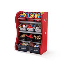 """Органайзер с разноцветными ящиками """"FUN TIME ROOM ORGANIZER"""", красный/черный"""