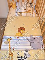 """Детское постельное белье в кроватку """"Бим Бом"""" комплект 6 ед. (Мадагаскар голубой), фото 2"""