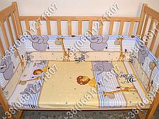 """Детское постельное белье в кроватку """"Бим Бом"""" комплект 6 ед. (Мадагаскар голубой), фото 3"""