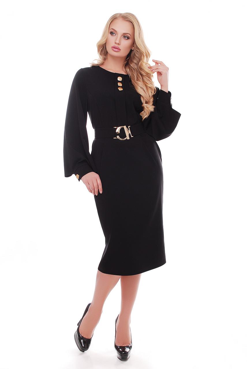 Платье женское Екатерина черного цвета