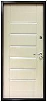 Дверь метал. ТМ Riccardi 2050х860 Лагуна лев. Дуб Беленый