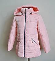 Детская куртка на девочку цвета пудры 3-8лет
