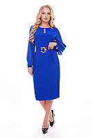 Жіноча сукня Єкатерина кольору електрик, фото 1