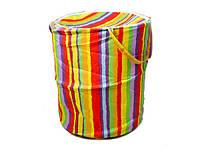Корзина для игрушек Разноцветная