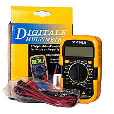 Мультиметр с подсветкой дисплея и защитным чехлом DT-830 LN портативный цифровой тестер