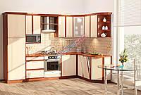 Комфорт Софт кухня КХ-72 орех + дуб молочный 3.0 х 1.75 м