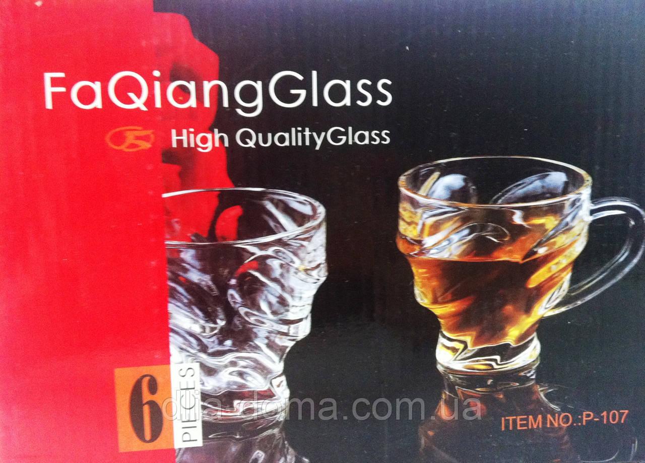 Набор стеклянных чашек 6 шт