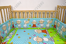 """Детское постельное белье в кроватку """"Бим Бом"""" комплект 5 ед. (баранчик голубой), фото 2"""