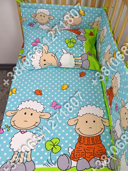 """Детское постельное белье в кроватку """"Бим Бом"""" комплект 5 ед. (баранчик голубой)"""