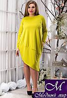 Женское батальное платье свободного кроя (р. 48-50, 52-54) арт. 12826