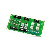 MP-1 Модуль,  релейный модуль на 4 релейных выхода типа NO/NC, ток до 8А, 5 предохранителей Охранная сигнал