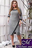 Женское трикотажное платье большого размера (р. 48, 50, 52) арт. 12819