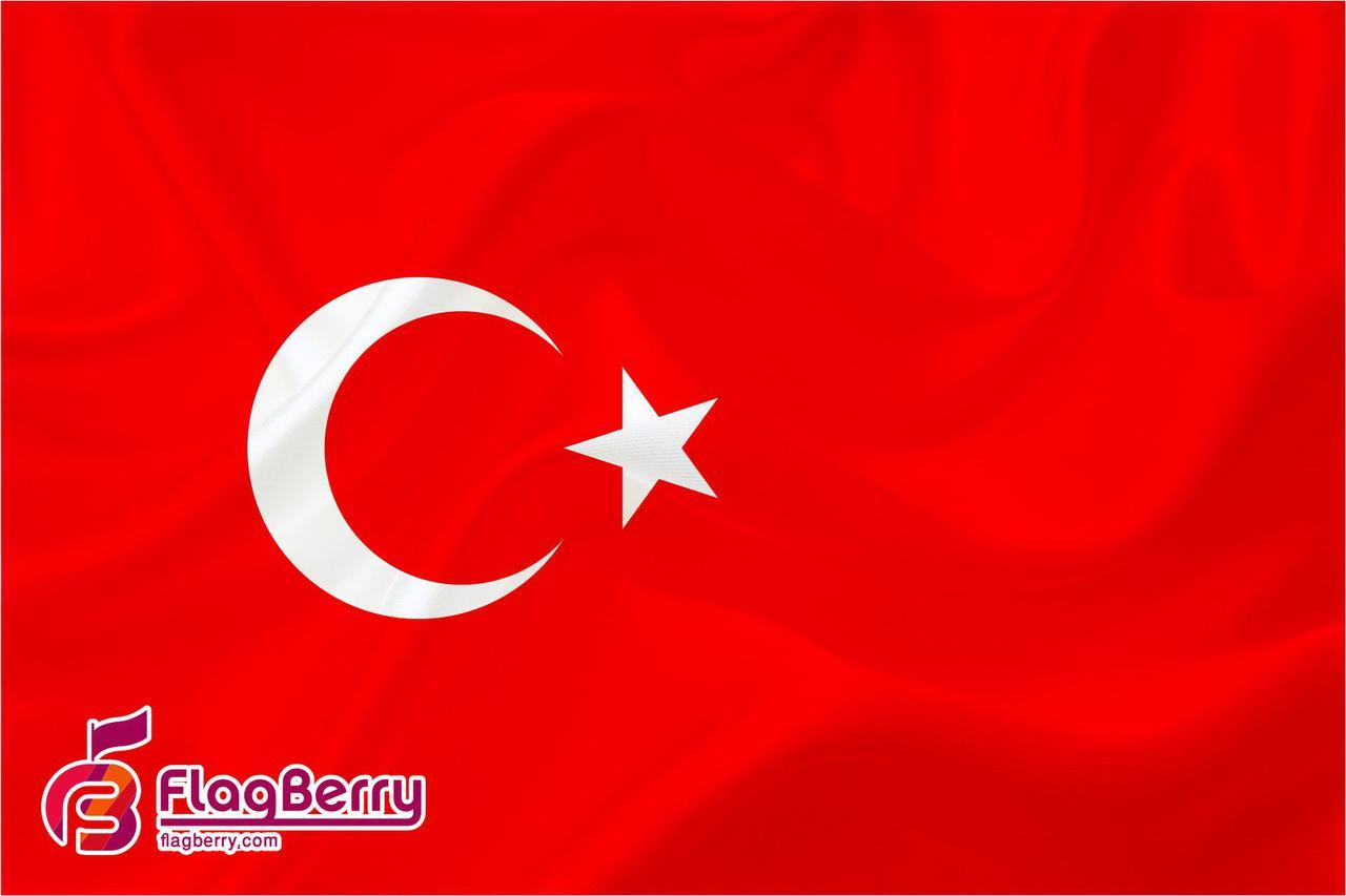 Флажок Турции 13,5*25 см., плотный атлас