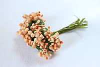 Декоративные веточки облепихи 6 шт/уп. персикового цвета 10-12, фото 1