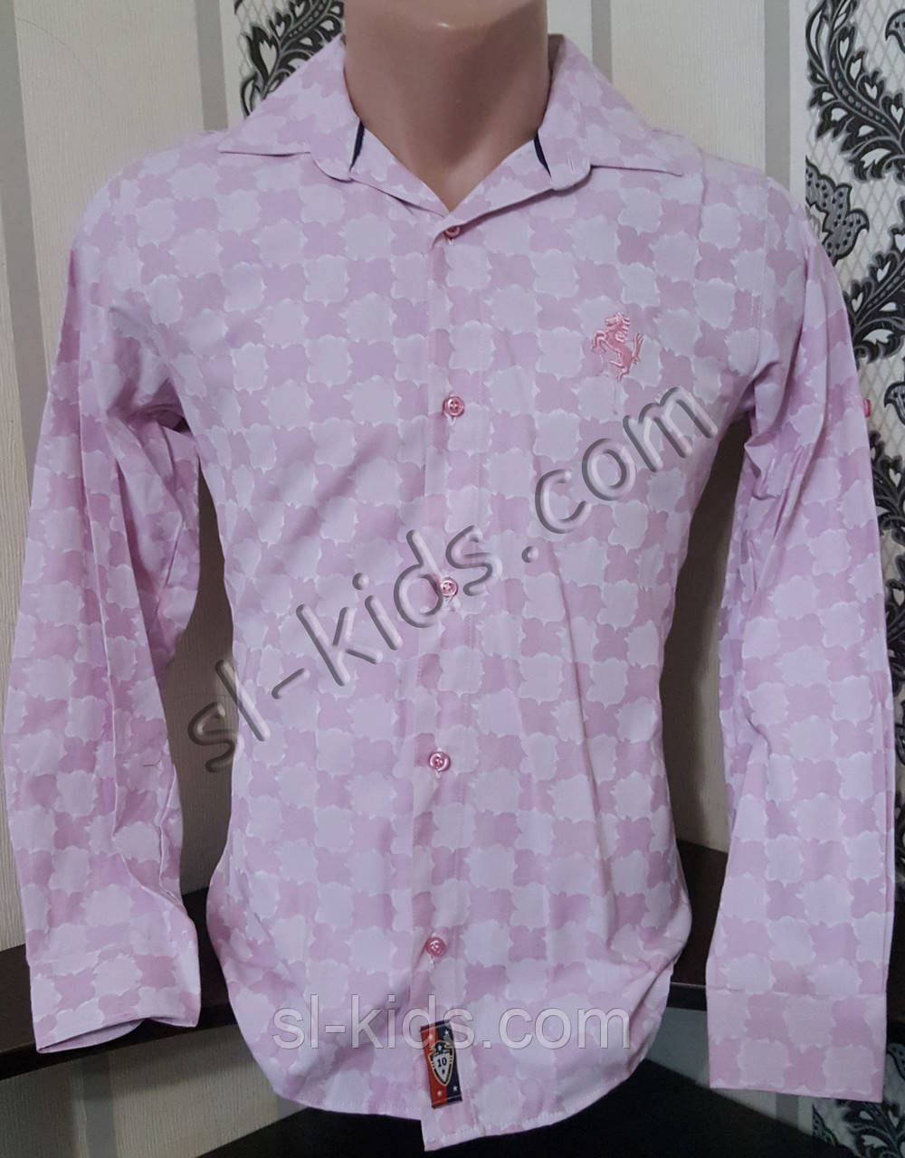 Стильна х/б сорочка для хлопчика 128-158 см (опт) (пр. Туреччина)