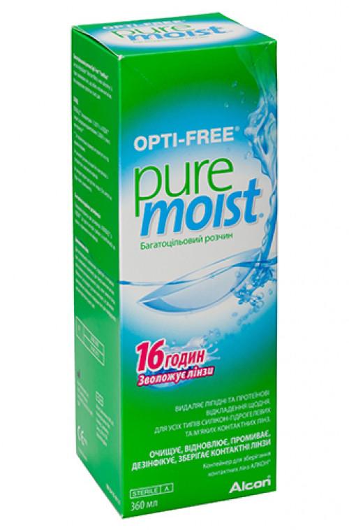 Многофункциональный раствор Opti Free Pure Moist 60 мл.