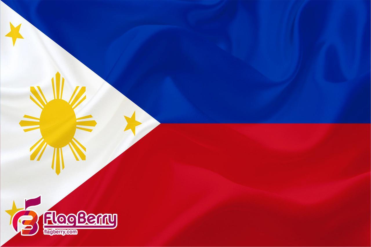 Флажок Филиппин 13,5*25 см., плотный атлас