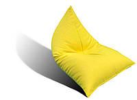 Желтое кресло-мешок Пирамида из микро-рогожки