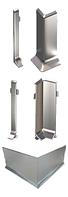 Угол наружный для алюминиевого плинтуса серебро