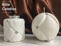 """Набор свечей """"Шанель"""" от ELITE CANDLES белого цвета"""