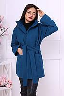 Женское весеннее шерстяное пальто на поясе (разные цвета)
