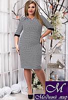 Стильное женское платье большого размера (р. 48, 50, 52) арт. 12736