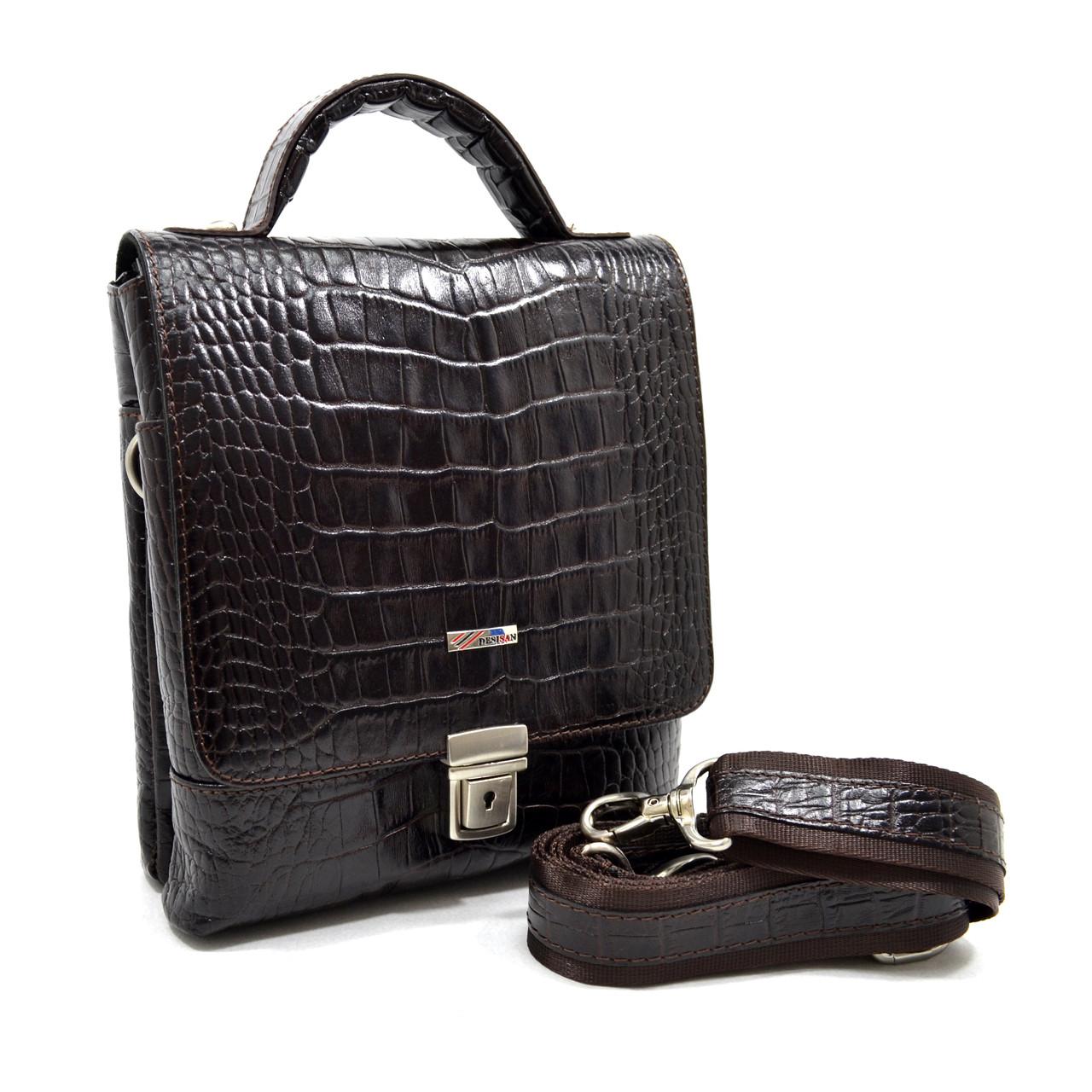 Мужская сумка-барсетка Desisan из кожи