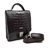 Мужская кожаная сумка-барсетка Desisan