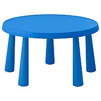 IKEA MAMMUT Детский стол, внутри / снаружи синий  (903.651.80)