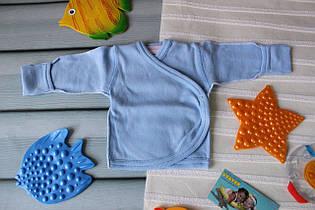 Распашонки для новорожденных (для недоношенных) 46, голубой