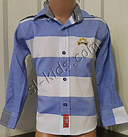 Стильная х/б рубашка для мальчика 128-158 см (опт) (пр. Турция)