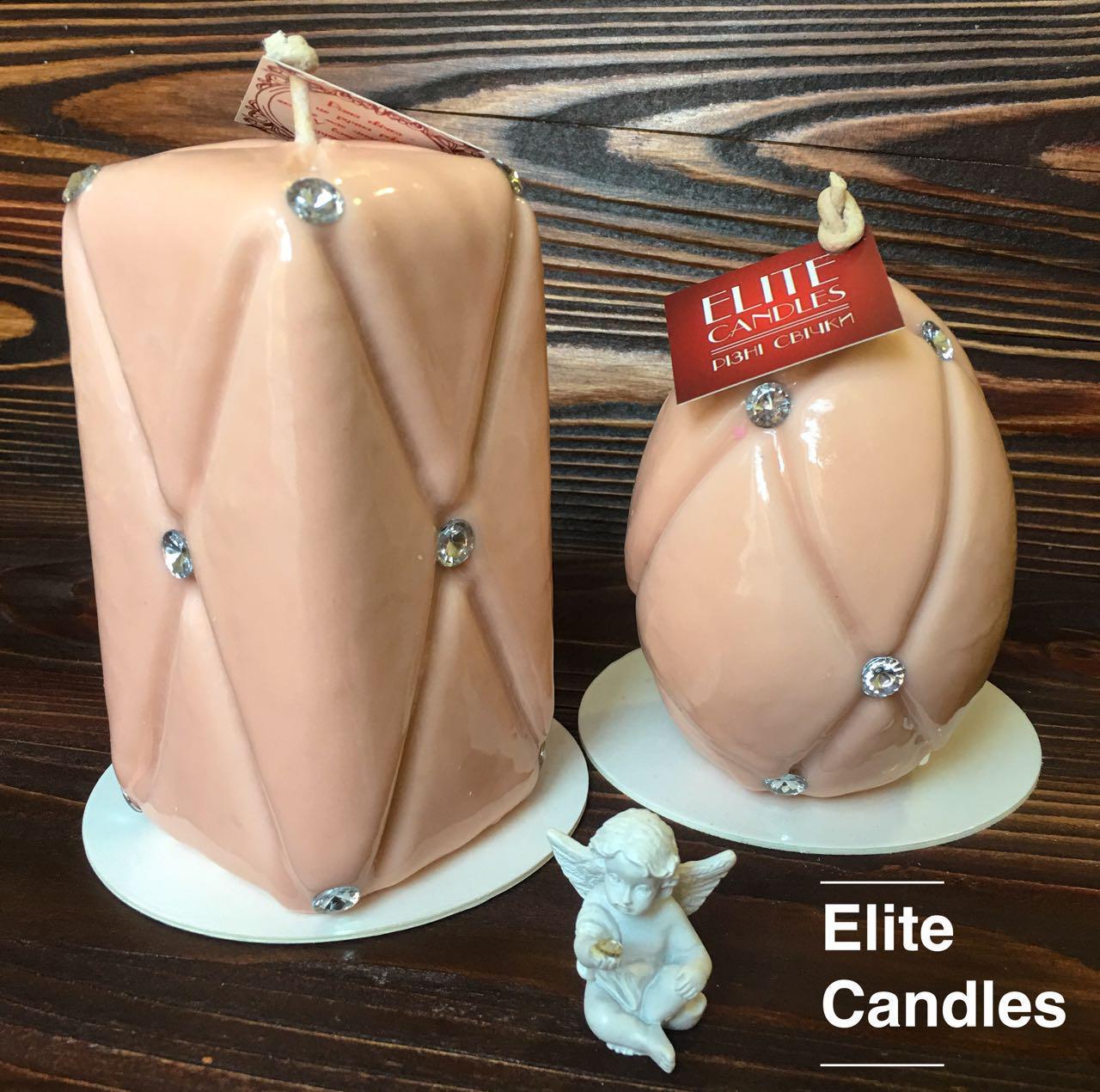"""Набор свечей """"Шанель"""" от ELITE CANDLES бежевого цвета"""