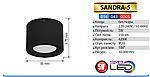 SANDRA-5 Светильник светодиодный (5 Вт накладной), фото 2