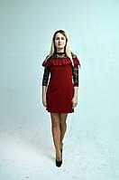 Платье  молодежное RB-5417 бордо, фото 1