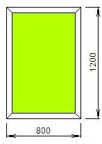 Окно пластиковое в дом 800*1200-Стандарт