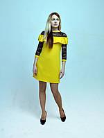 Платье  молодежное RB-5417 желтое