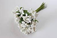 Декоративные веточки облепихи 10-12 шт/уп. белого цвета, фото 1
