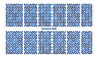 Фольгированный слайдер №028 синяя