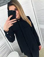 Женская шифоновая блуза прямого кроя 651383