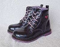 Ботинки демисезонные для девочки. EeBb. Модель W551purple.