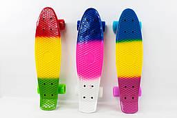 Скейт с металлическими креплениями, длина доски - 56 см