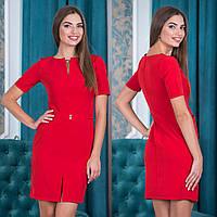 """Красное деловое короткое платье """"Мартини"""""""