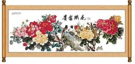 """Набор для вышивания   """"Цветущие пионы - символ удачи"""""""