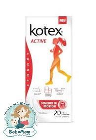 Ежедневные гигиенические прокладки Kotex Active, 20шт.